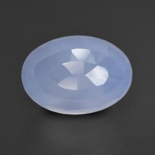 6.1ct Oval Bufftop Purplish Blue Chalcedon Edelstein (ID: 532045)