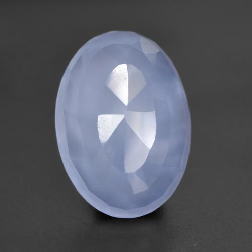 4.9ct Oval Bufftop Purplish Blue Chalcedon Edelstein (ID: 532048)