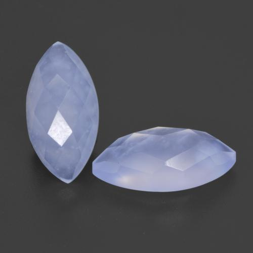 Light Blue Chalcedony Gem - 2ct Marquise Buff-Top (ID: 532103)