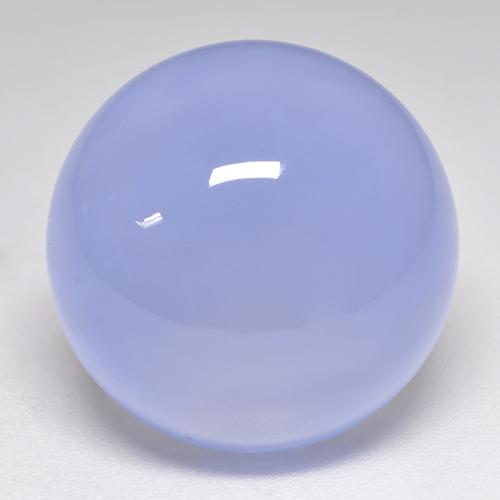 Violet Blue Chalcedony Gem - 18.3ct Round Cabochon (ID: 532928)