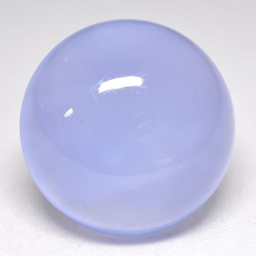 Violet Blue Chalcedony Gem - 10.8ct Round Cabochon (ID: 532930)