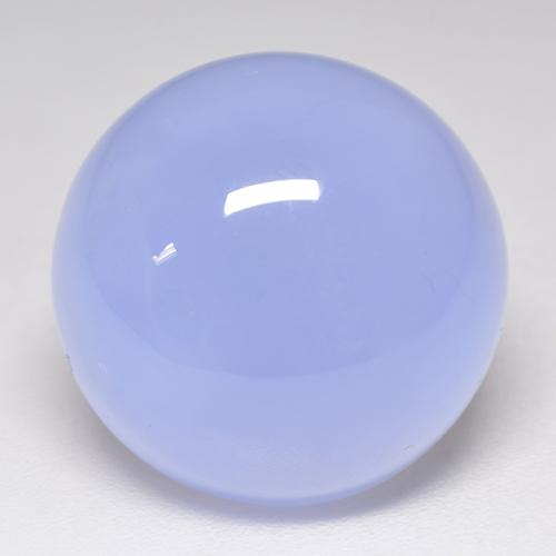 Violet Blue Chalcedony Gem - 14.8ct Round Cabochon (ID: 532932)