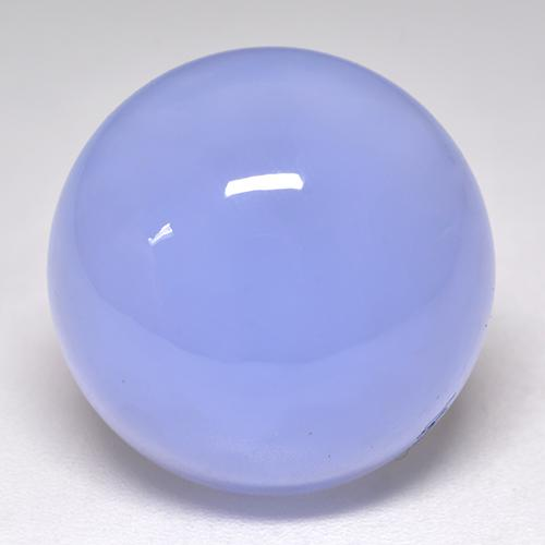 Light Blue Chalcedony Gem - 16.7ct Round Cabochon (ID: 532933)