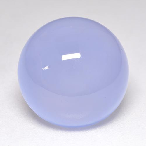 Light Purplish Blue Chalcedony Gem - 14.2ct Round Cabochon (ID: 532936)