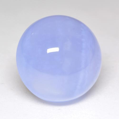 Light Blue Chalcedony Gem - 9.1ct Round Cabochon (ID: 533579)