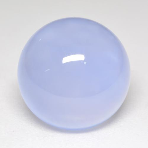 Light Blue Chalcedony Gem - 8.1ct Round Cabochon (ID: 533581)