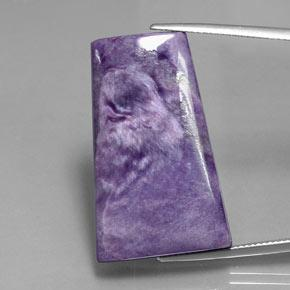 39.5ct Tapered Baguette Cabochon Violet Charoite Gem (ID: 343551)