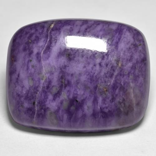 Violet Charoite Gem - 45.5ct Cushion Cabochon (ID: 434937)