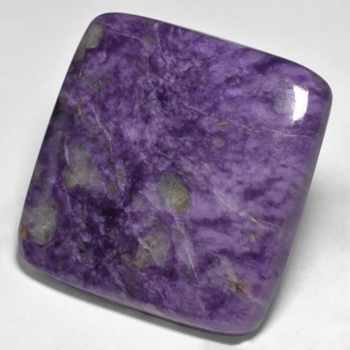 Violet Charoite Gem - 77.8ct Square Cabochon (ID: 435033)