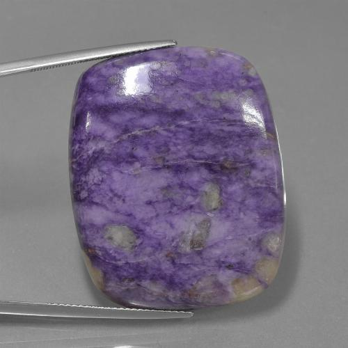 Violet Charoite Gem - 65.5ct Cushion Cabochon (ID: 435040)