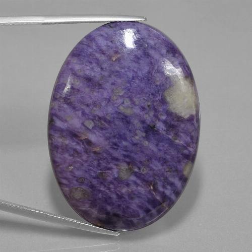Violet Charoite Gem - 62.5ct Oval Cabochon (ID: 435141)