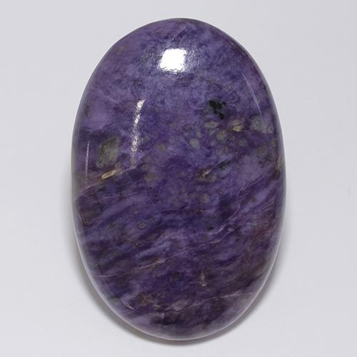 Violet Charoite Gem - 61.6ct Oval Cabochon (ID: 435144)