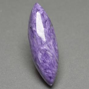 Violet Charoite Gem - 11.2ct Marquise Cabochon (ID: 500299)