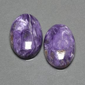 Violet Charoite Gem - 10.4ct Oval Cabochon (ID: 500324)