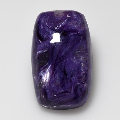 Violet Charoite Gem - 15.3ct Cushion Cabochon (ID: 509976)
