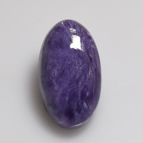 Violet Charoite Gem - 5.9ct Oval Cabochon (ID: 509989)