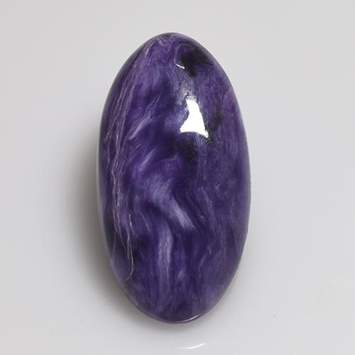 Violet Charoite Gem - 5.4ct Oval Cabochon (ID: 509990)