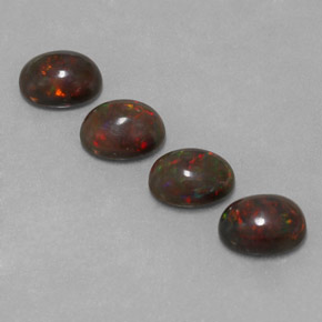0.8ct Oval Cabochon Multicolor Chocolate Opal Gem (ID: 330311)