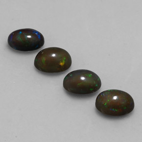 0.6ct Oval Cabochon Multicolor Chocolate Opal Gem (ID: 330630)