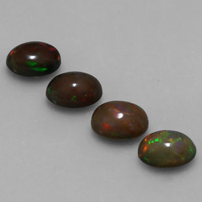 0.6ct Oval Cabochon Multicolor Chocolate Opal Gem (ID: 330640)