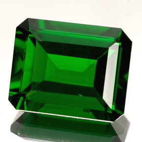 Chrome Diopside 3 3 Carat Octagon Emerald Cut From