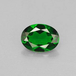 Buy 0.80 ct Green Chrome Diopside 7.06 mm x 5.2 mm from GemSelect (Product ID: 286399)