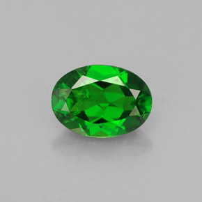 Buy 0.86 ct Green Chrome Diopside 7.03 mm x 5.1 mm from GemSelect (Product ID: 286402)