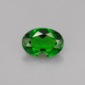 Buy 0.74 ct Green Chrome Diopside 6.95 mm x 5 mm from GemSelect (Product ID: 286405)