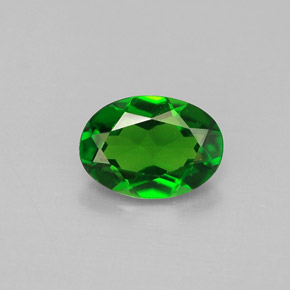 Buy 0.77 ct Green Chrome Diopside 7.14 mm x 5.1 mm from GemSelect (Product ID: 286408)