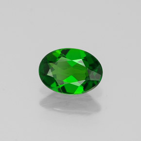 Buy 0.67 ct Green Chrome Diopside 6.93 mm x 5.1 mm from GemSelect (Product ID: 311189)