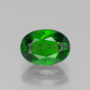 Buy 0.91 ct Green Chrome Diopside 7.02 mm x 5.1 mm from GemSelect (Product ID: 313743)