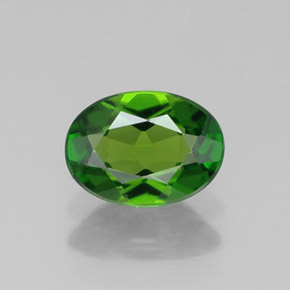 Buy 0.78 ct Green Chrome Diopside 7.02 mm x 5.1 mm from GemSelect (Product ID: 313744)