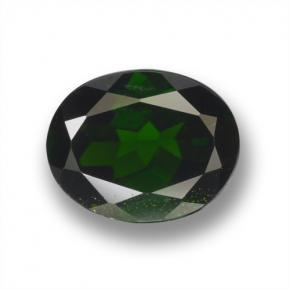 2.2ct Oval Facet Green Chrome Diopside Gem (ID: 462950)