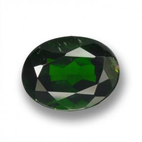 Green Chrome Diopside Gem - 2ct Oval Facet (ID: 462951)