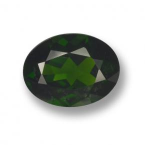 Green Chrome Diopside Gem - 1.8ct Oval Facet (ID: 462967)