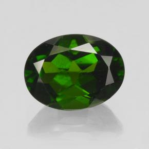 Green Chrome Diopside Gem - 2ct Oval Facet (ID: 462975)