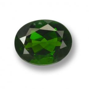 2ct Oval Facet Green Chrome Diopside Gem (ID: 463020)