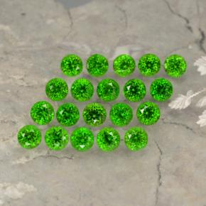 thumb image of 0.1ct Round Facet Green Chrome Diopside (ID: 468160)