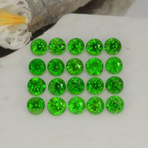 0.1ct Round Facet Green Chrome Diopside Gem (ID: 468242)