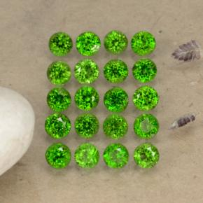 0.1ct Round Facet Green Chrome Diopside Gem (ID: 468244)