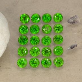 thumb image of 0.1ct Round Facet Green Chrome Diopside (ID: 468245)