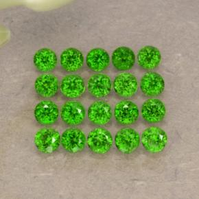0.1ct Round Facet Green Chrome Diopside Gem (ID: 468246)