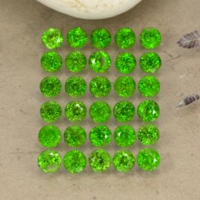 0.1ct Round Facet Green Chrome Diopside Gem (ID: 468296)