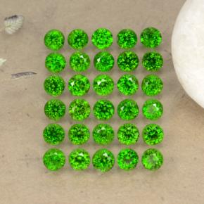 0.1ct Round Facet Green Chrome Diopside Gem (ID: 468297)
