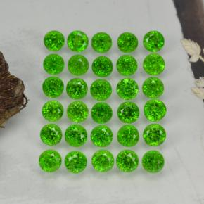 Green Chrome Diopside Gem - 0.1ct Round Facet (ID: 468300)