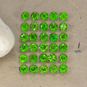 0.1ct Round Facet Green Chrome Diopside Gem (ID: 468303)