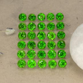 0.1ct Round Facet Green Chrome Diopside Gem (ID: 468304)