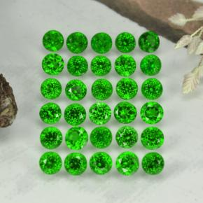 0.1ct Round Facet Green Chrome Diopside Gem (ID: 468334)
