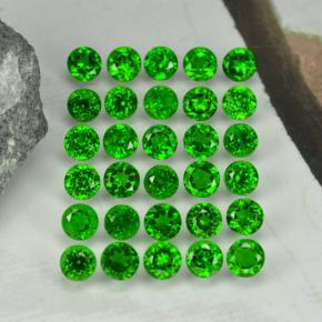 Green Chrome Diopside Gem - 0.1ct Round Facet (ID: 468335)