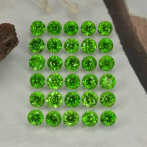 0.1ct Round Facet Green Chrome Diopside Gem (ID: 468336)